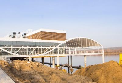 Budowa przystani wodnej na rzece Wiśle