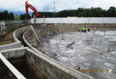 Przebudowa istniejącego osadnika wstępnego nr 2 na terenie Miejskiej Oczyszczalni Ścieków ŁYNA w Olsztynie