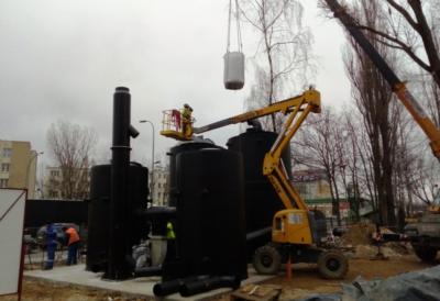 """Budowa obiektów oraz instalacji dla neutralizacji powietrza złowonnego na terenie Stacji Pomp Kanałowych """"Sadyba"""""""