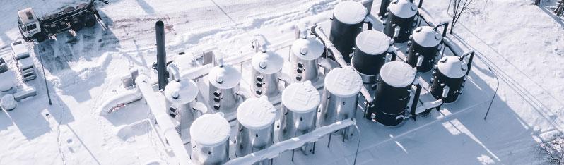 Budowy w zimowej aurze